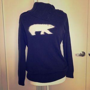Fuzzy polar bear sweater